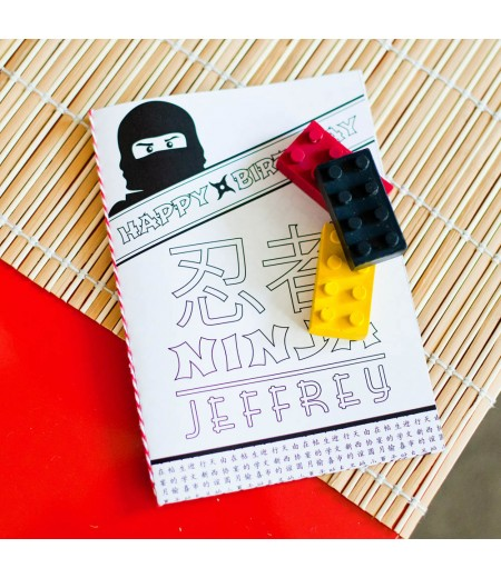 Ninja Birthday Party Printable Coloring Book