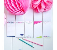 Printed Notepads - To Do List, Lovely Ideas, A Note From, Grocery Lists - 6 different page designs