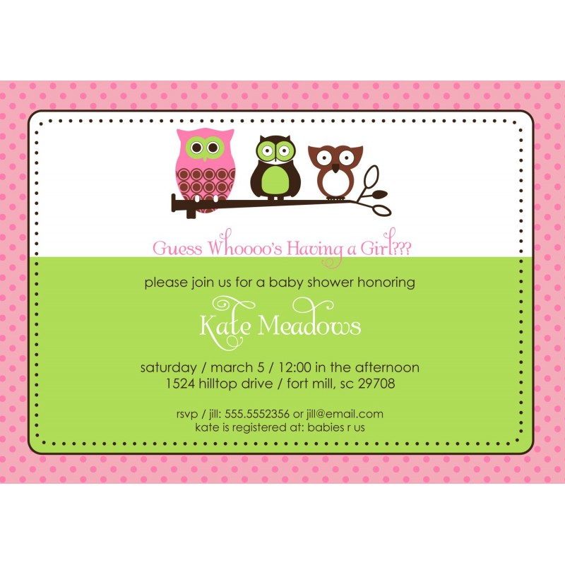Baby Shower or Birthday Party Printable Invitation - Pink