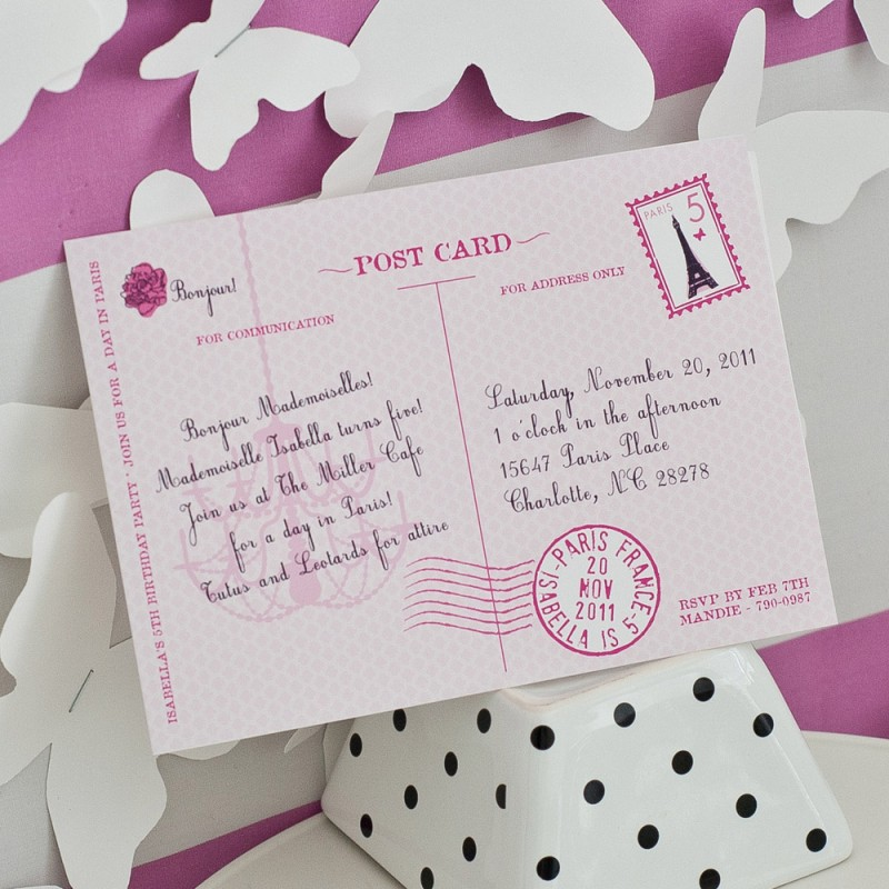 Glamorous paris postcard parisian party invitation filmwisefo
