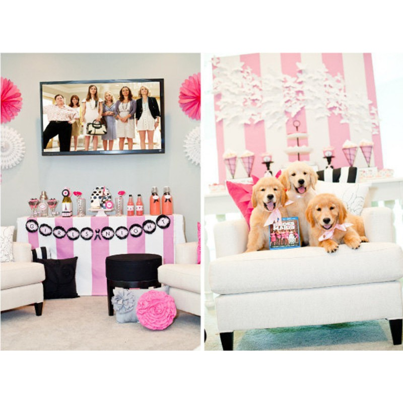 exclusive bridesmaids girls night in party printable decor as seen