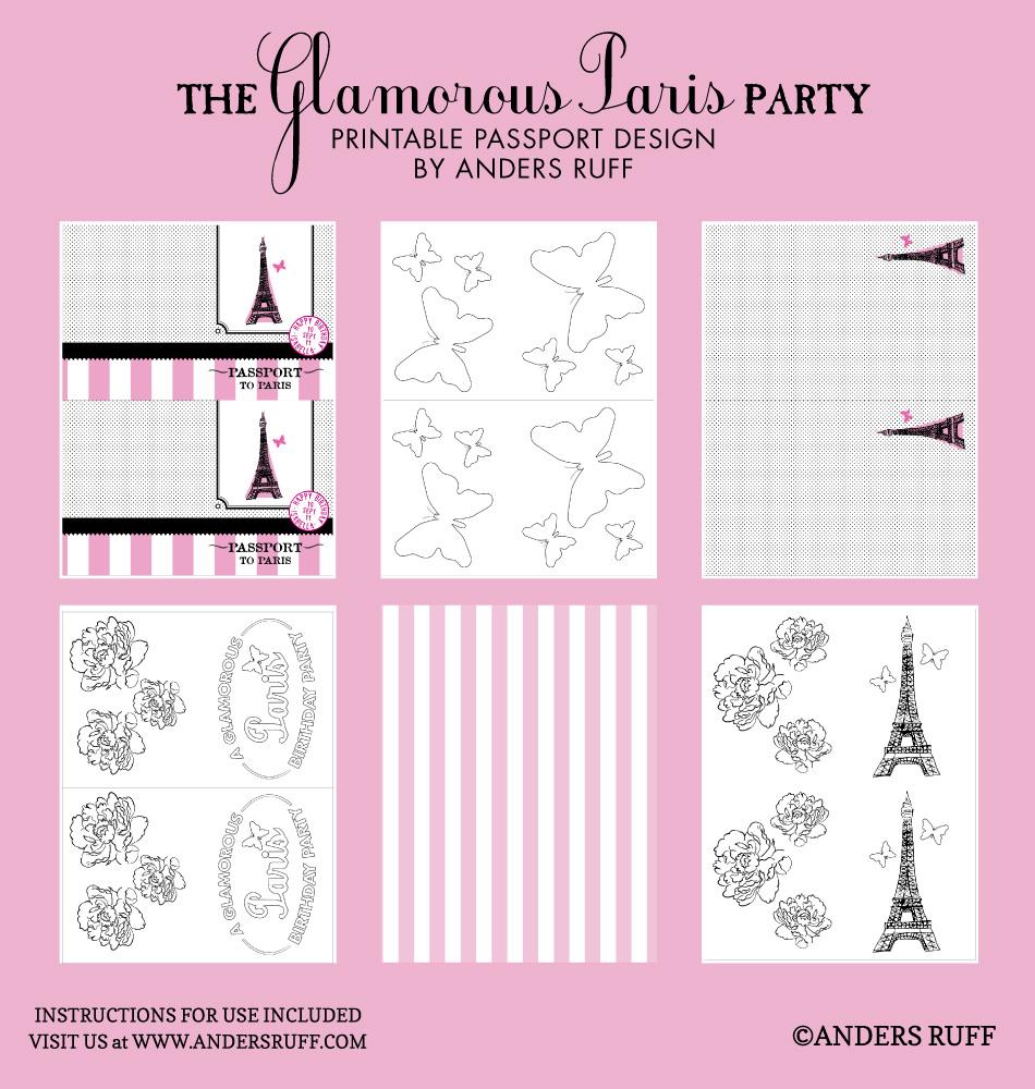 Glamorous Paris Passport Coloring Book