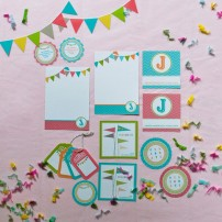Personalized Printable Stationery and Gift Packaging - Pennants Collection