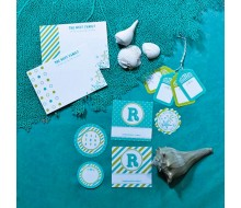 Personalized Printable Stationery and Gift Packaging - Seaside Collection