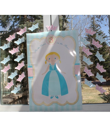 Pin the Crown on the Princess Printable Game - As Seen at Trista Sutter's Daughter's Party