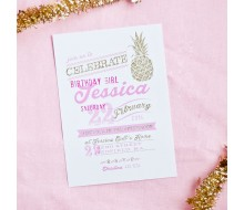 Pineapple Gold Party Shower Bridal Birthday Party Printable Invitation