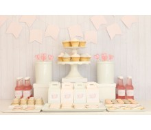 Pink and Grey Bridal Shower Party Printables Collection