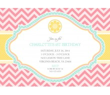 Pink Lemonade Birthday Party Printable Invitation