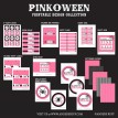 Happy Pinkoween (Pink + Halloween) Printable Party Collection - Instant Download