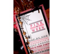 Pink Halloween Pinkoween Party Invitation