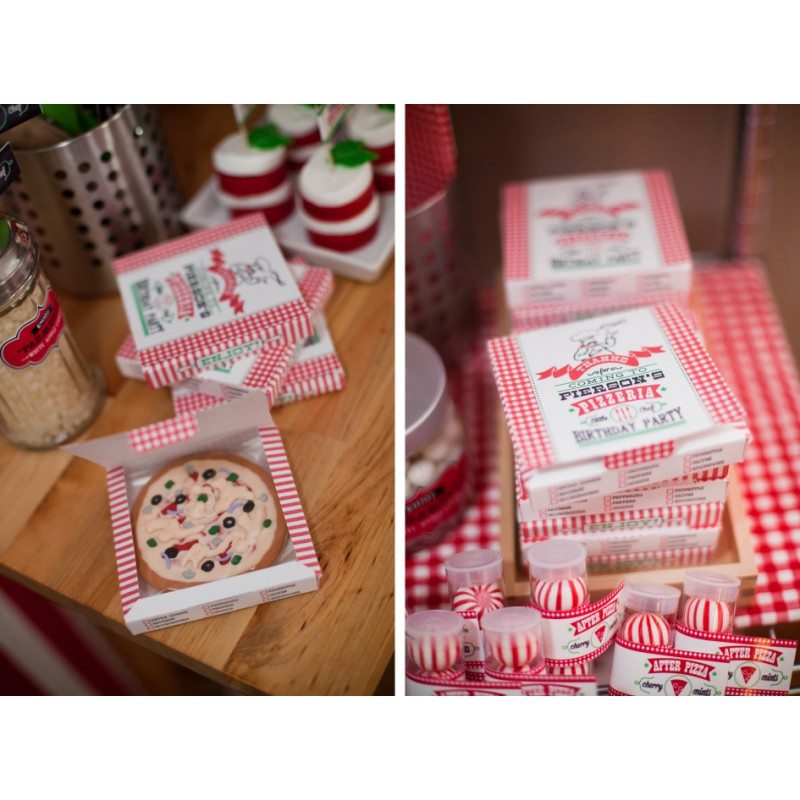 pizza party printable pizza box favor box template