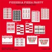 Pizzeria Pizza Party Printable Collection