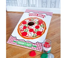 Pizzeria Pizza Birthday Party Customized Printable Pizza Hole Game