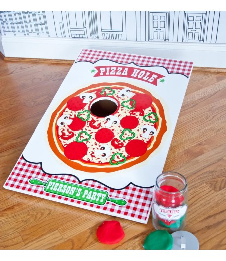 Pizzeria Pizza Birthday Party Customized Printable Pizza Hole Game