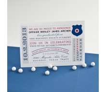 Police Academy Graduation Printable Invitation