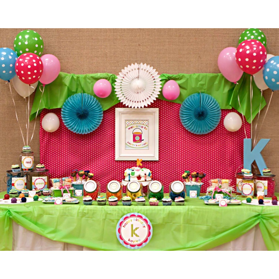 Pin by becky cutrell on birthday party ideas pinterest for Arts and crafts party decorations