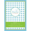 Polka Dot Birthday Party Printable Invitation - Green Blue