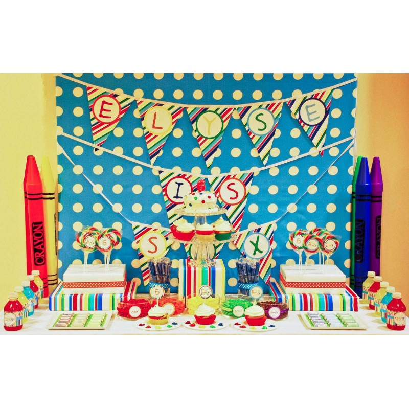 Rainbow Arts & Crafts Birthday Party Printables Collection
