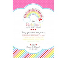 Rainbow Loom Birthday Party Printable Invitation