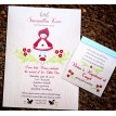 Red Riding Hood Woodland Baby Shower Printable Invitation
