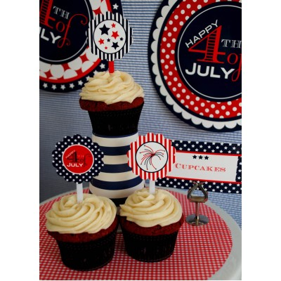 Red White and Blue Birthday Party Printable Collection
