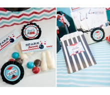 Retro Bowling Printable Spare Sweets Foldover Label and Bag Label - Instant Download