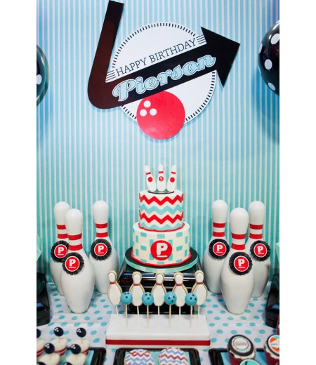 "Retro Bowling Party Printable Party Poster - 20"" x 30"""