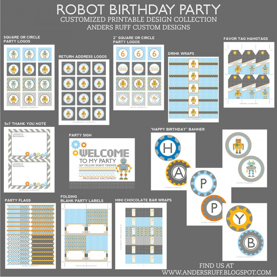 Robot Birthday Party