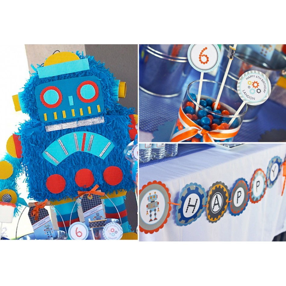 Robot Birthday Party Printable