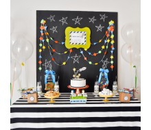 Spaceship Rocket Birthday Party Printables Collection - Modern Geometric