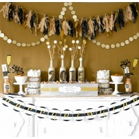 Rustic Glam Gold Glitter New Years Holiday Party Collection - Instant Download
