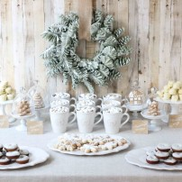 Rustic Cookies and Cocoa Christmas Cookie Exchange Party Printables Collection - Instant Download