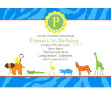 Boy's Jungle Safari Printable Party Invitation