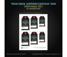 Teacher Appreciation Printable Tag - Instant Download