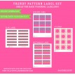 Trendy Pattern Label Set - Girl Colorway - Instant Download
