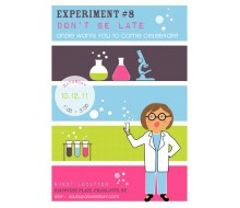 Mad Scientist Girl Printable Birthday Party Invitation