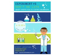 Mad Scientist Boy Printable Birthday Party Invitation