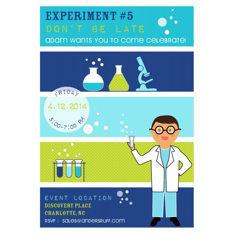mad scientist birthday party printable collection