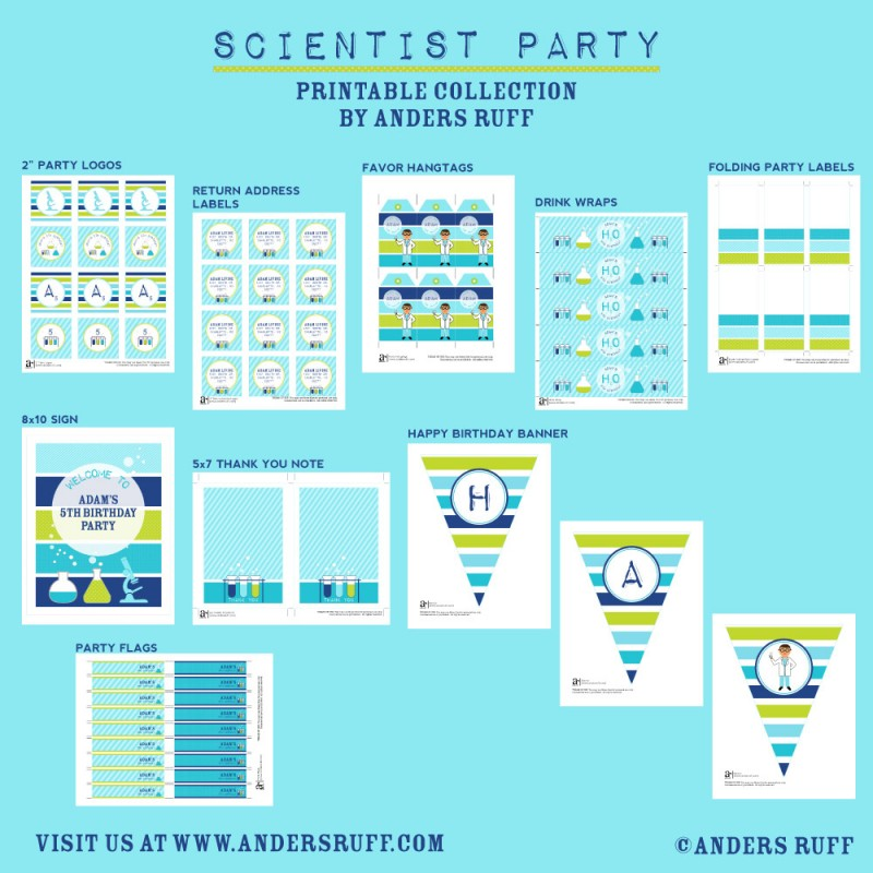 picture about Printable Mad Science Sign titled Insane Scientist Birthday Bash Printable Variety