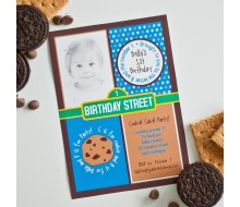Cookie Monster Birthday Party - Sesame Street Inspired Printable Invitation