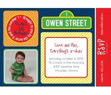 Sesame Street Inspired Birthday Party Printable Invitation