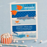 Shark Birthday Party Printable Invitation