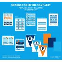 Shark Birthday Party Printables Collection