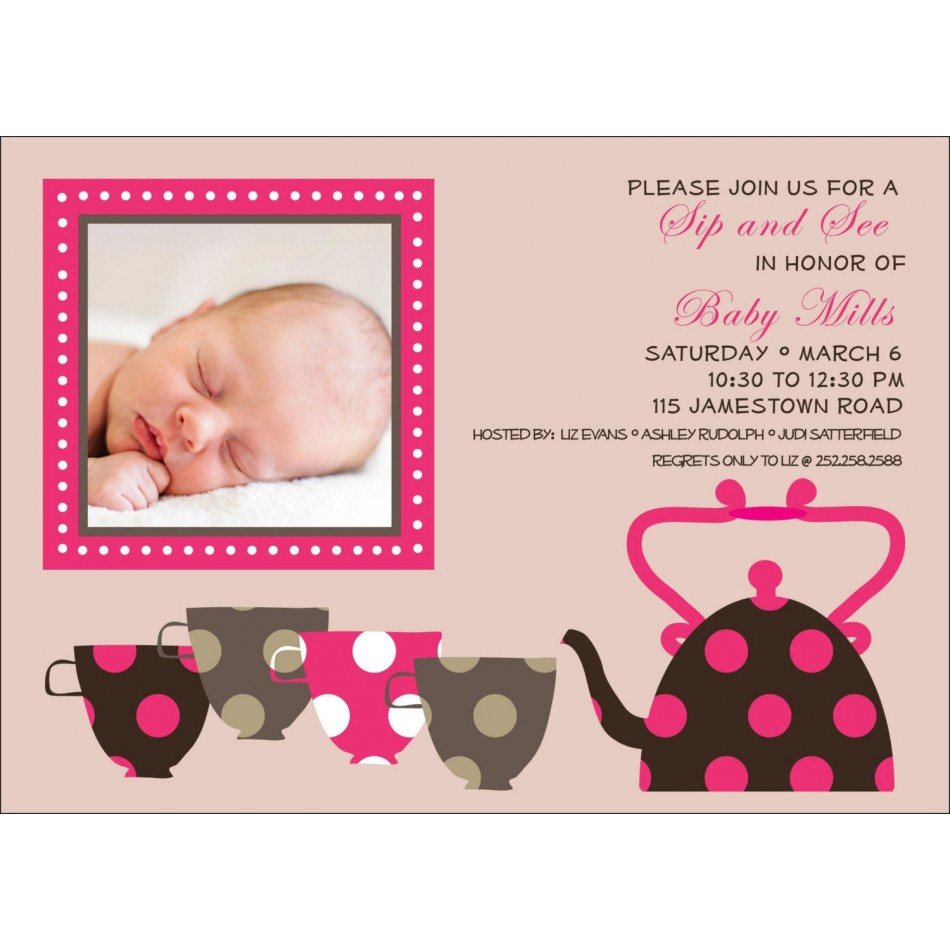 Free Printable Sip And See Invitations with great invitations design