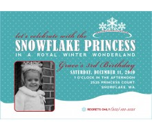 Snowflake Princess Winter Wonderland Printable Invitation