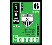 Soccer Birthday Party Printable Invitation