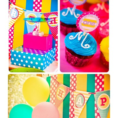 Splish Splash Pool Party Birthday Party Printables Collection - Girl