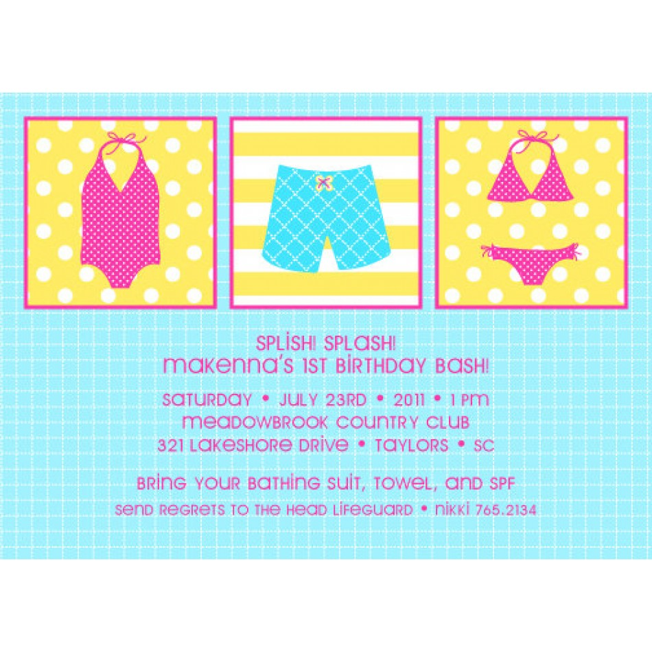 Birthday Pool Party Invitations is one of our best ideas you might choose for invitation design