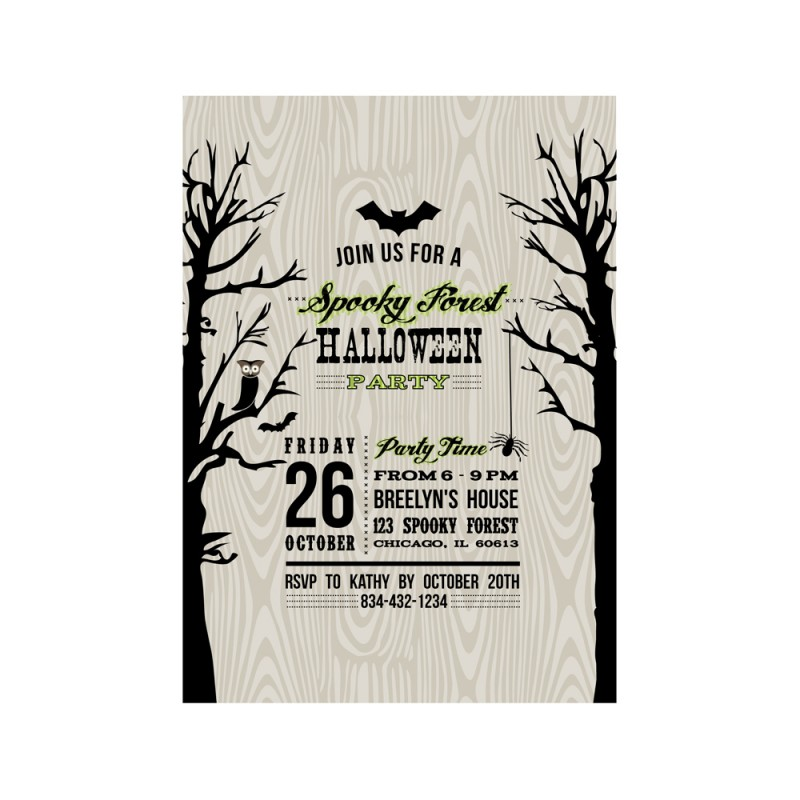 Spooky Forest Halloween Party Printable Invitation - As Seen in ...