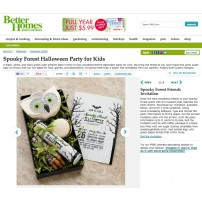 Spooky Forest Halloween Party Printable Invitation - As Seen in Better Homes & Gardens